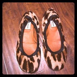 Authentic Lanvin Leopard Ballerina Scrunch Flats